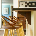 Counter stools are by Thos. Moser. The room glimpsed behind is the new family room.