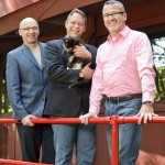 Preservation architect Jerry Morosco (left) with owners Scott Wise and Bob Moore.