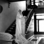 Old photos—such as this wedding portrait of Ruth Reed—were critical to the restoration.