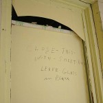 """A note scrawled by 1970s-era renovators—""""Leave glass in place""""—hints at their sensitivity to the building."""