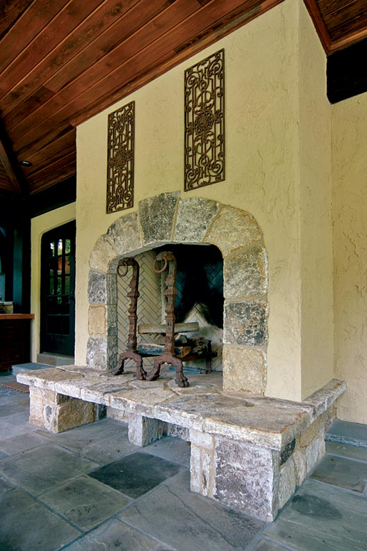 Seamless addition to an atlanta tudor old house online for Tudor fireplaces