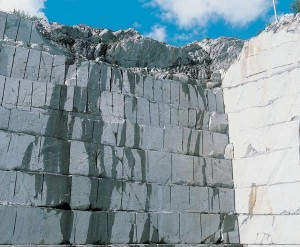 Like marble or granite, soapstone is quarried from the ground in blocks. The soapstone sold in the United States is mostly imported from abroad, where new deposits are helping to sustain the material's resurging popularity. (Courtesy: Tulikivi)