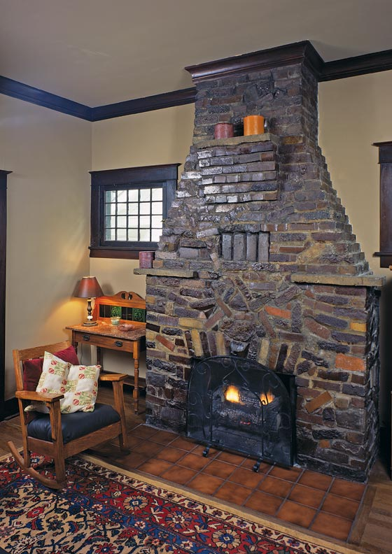 Arts Crafts Fireplaces Clinker Brick