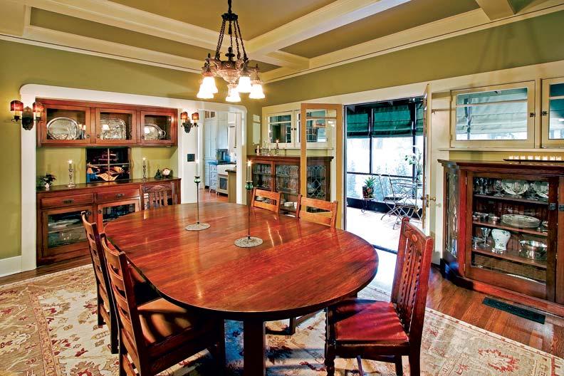 bungalow dining room   Craftsman Makeover for a California Bungalow - Old-House ...