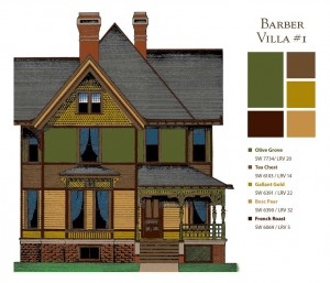 Paint colors for a Barber villa