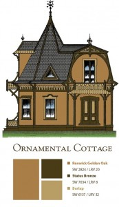 Paint colors for an ornamental cottage