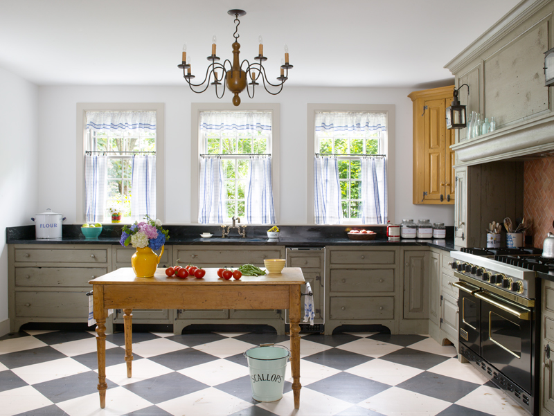 A New Colonial Kitchen Old House Online Old House Online