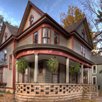 A-Classic-Rock-Face-Rusticated-Concrete-Block-Sears-Porch-Lattice-Victorian-Queen-Anne-House-old-home
