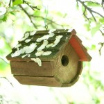 Birdhouses are in service outdoors and have become collectibles inside.