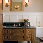 A new powder room was outfitted with a handsome vanity.