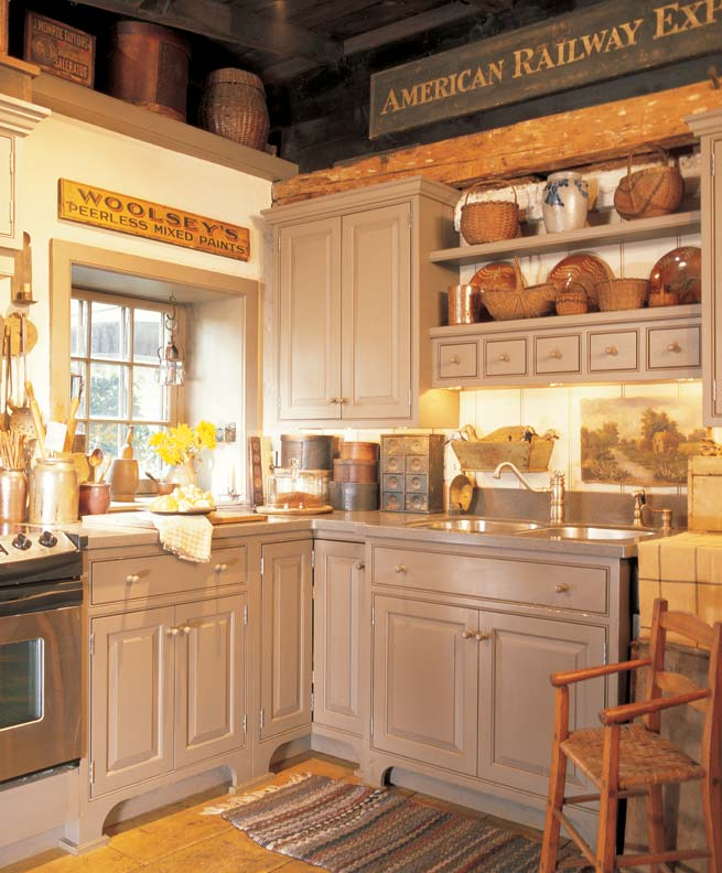 Decor Kitchen Cabinets: 3 Ideas For Decorating With Primitives And Folk Art