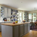 With painted Shaker-style cabinets, the kitchen is simple and uncluttered.
