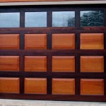 Decorative glass is encased in tempered glass in a custom door of padauk and Spanish cedar from Gallenberg Studio.