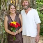 Photographer Caryn Davis and artist Leif Nilsson on their wedding day last year.