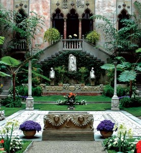 The atrium at the Isabella Stewart Gardner Museum is a favorite respite of Bostonians.