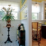 The former mudroom has a hex tile floor, which is both historical and practical.