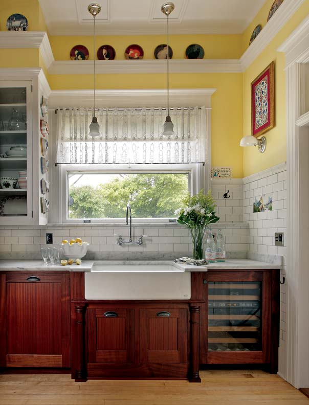 French bakery inspired kitchen old house online old house online - Kitchen sink in french ...