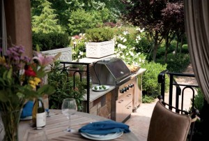 The grill is situated away from the dining area so guests can enjoy  the aroma without the smoke.