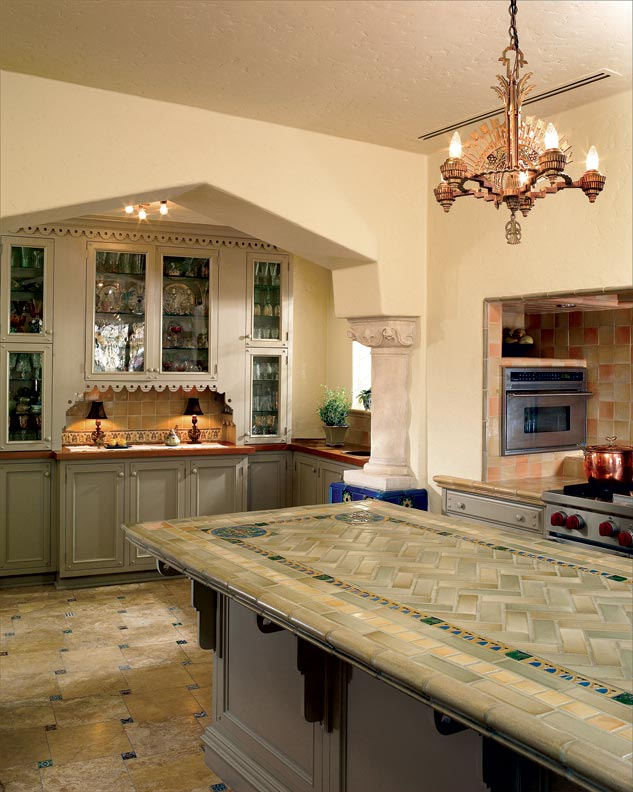Spanish kitchen makeover old house online old house online for Kitchen cabinets in spanish
