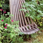 The slat chair was a kit bought at a house and garden show.