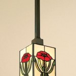 An Arts & Crafts-style pendant from Turn of the Century Lighting