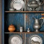 Liz has filled the house with New England antiquity such as her pewter collection.