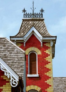 It's easy to replace wooden shingles—like the ones on this roof—individually.