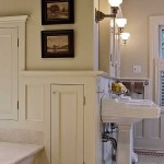 In secondary rooms, particularly kitchens and baths, pictures are generally nailed into the wall. Photo: Peter Sorantin