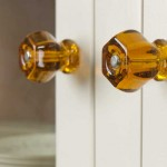Amber glass knobs warm the buffet.