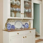 The buffet was built by cabinetmaker Jeff Loux as a piece of furniture, then attached to the wall.