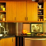 The original kitchen remains on the second floor of the unit; appliances and countertops were updated.