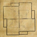 A drawing from Wright's office shows the asymmetrical quadrant plan of Suntop; the design has proven enduring and functional for more than 60 years.