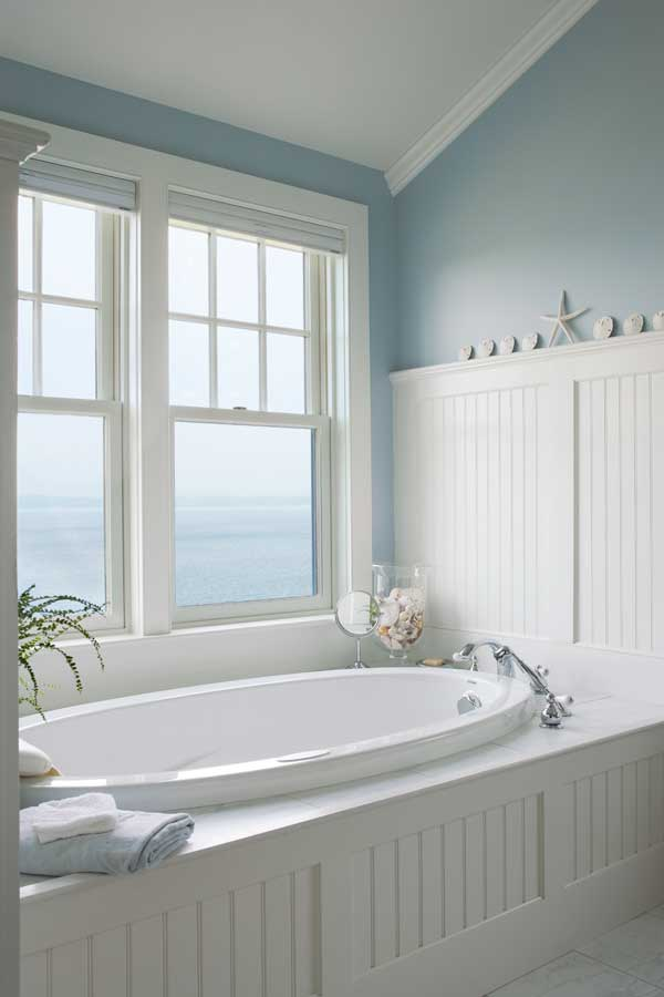 Colonial home bathroom design - Home design and style