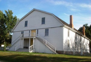 The Colony Church, one of four original buildings at the Bishop Hill Historic Site.