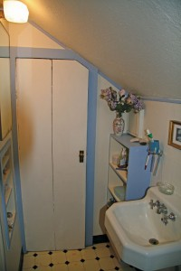 Before the dormer, the bathroom was cramped and crowded.