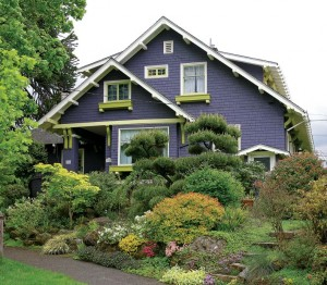 Lush, richly colored shrubs and flowers are a defining trait in Ladd's Addition—and Portland.