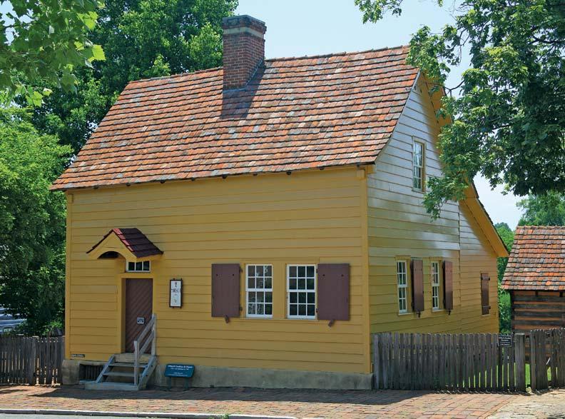 The moravian settlement in winston salem north carolina for Salem house