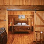 Max Bailey, a local chairmaker, built custom beds for each of the property's five guest cabins with wood left over from the restoration.