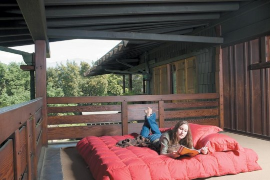 "A common feature for houses back then, sleeping porches are ""like camping in a really nice tent,"" says Jana Cooper."