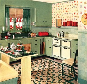 The peak of kitchen taste in the 1930s was a range that looked like a sideboard, dresser, or cabinet—anything but an appliance. Short legs and burner covers helped complete the conceit.