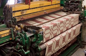 The textiles are woven on old looms. Many of the company's designs have been featured in period films.