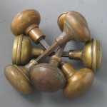 Antique brass knobs from Historic Houseparts
