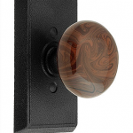 Brown swirl porcelain knob from House of Antique Hardware