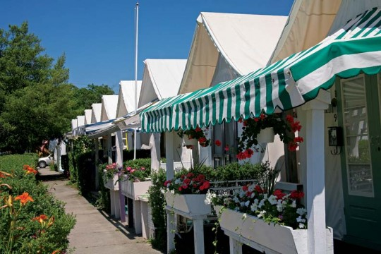 Ocean Grove's unique canvas camp meeting tents are highly sought-after living spaces.