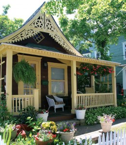 The decorated gable on this little Victorian charmer is typical of Ocean Grove.