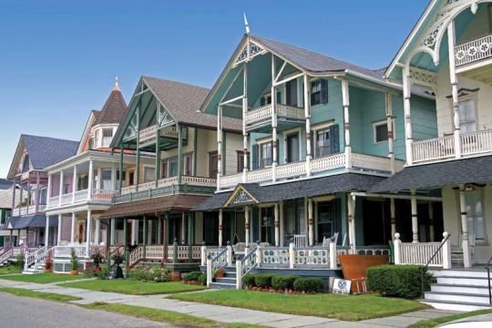 This line of large houses recalls seaside designs in Palliser & Palliser pattern books.