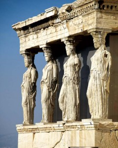 The Caryatids from the Erechtheion at the Acropolis highlight the human body's close ties to proportions in the classical orders.