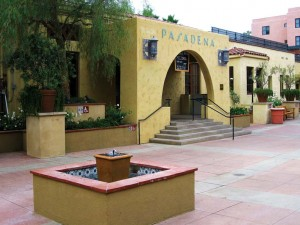 Once a hub for visitors to Southern California, the old Santa Fe train station now holds a café.