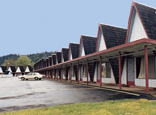 Twenty-five individual A-frame units at the Ranch Motel in Rice Hill, Oregon, are still in existence.