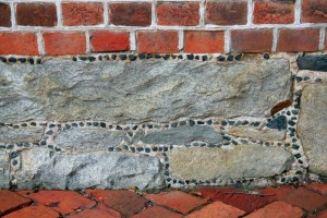 Galleting is a common masonry treatment used on brick houses in Annapolis.